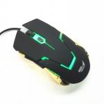 MD tech mouse gaming usb optical BC194 มีไฟสีเขียว -black