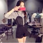 เสื้อผ้าเกาหลี พร้อมส่ง เซตเสื้อเชิตผ้าอย่างดี กางเกงเป็นผ้ากำมะหยี่