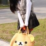 กระเป๋าหมีพักผ่อนRilakkuma (รุ่นขนนุ่ม)