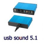 USB SOUND CARD 5.1 6CH/OPTICAL -blue