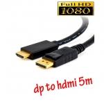 สายแปลง display port to HDMI ยาว 5m มีเสียงด้วย