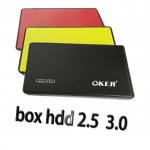 "oker กล่องใส่ HDD notebook 2.5"" USB 3.0 แบบSATA"