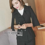 Elizabeth Black Trench Top and Shorts Set