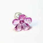 Plastic Flower Fancy Ring แหวนดอกไม้ RI003