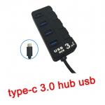usb 3.1 type-c hub usb 3.0 4port มีสวิตซ์
