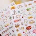 Sticker ลายแมวเหมียว -เซ็ต 6 แผ่น-
