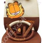 ชุดคลุมเบาะรถยนต์ ลาย Garfield (สี้น้ำตาล)