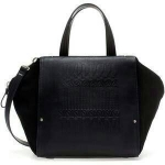 ZARA SUEDE COMBINATION BOWLING BAG