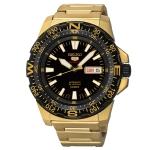 SEIKO SRP548J1 Seiko Monster Automatic นาฬิกาข้อมือผู้ชาย สีดำทอง สายสแตนเลส