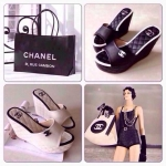 รองเท้าส้นเตารีด Chanel Style สูง 4.5นิ้ว เสริมหน้า 2 นิ้ว