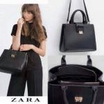 ZARA SQUARE CITY BAG กระเป๋าถือหรือสะพายรุ่นใหม่ชนช็อป! หนัง