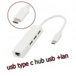สายแปลงUSB 3.1 Type C HUB usb with Lan Rj45 Ethernet