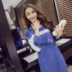 ชุดเดรสเกาหลี พร้อมส่ง เดรสยีนส์ทรงสวยที่สาวไม่ควรพลาดจร้าผ้ายีนส์ฟอก