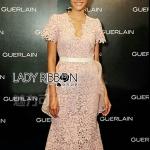 Grace Soft Pink Lace Dress with Organza Ruffle