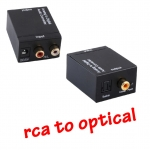 RCA LR to Coaxial and Opticalตัวแปลงสัญญาณ -black
