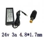 adapter ac dc ที่ชาร์จ 24v 3a หัวเล็ก 4.8x1.7mm