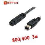 สาย IEEE firewire1394 800ไป400 6Pหัวใหญ่ 3m
