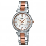 นาฬิกา ข้อมือผู้หญิง casio ของแท้ LTP-E409RG-7AV CASIO นาฬิกา ราคาถูก ไม่เกิน สี่พัน