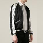 เสื้อแจ็คเก็ต Saint Laurent- Satin Viscose Bomber Jacket (1:1)