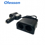 Olesson 1526แยกช่องบุหรี่ในรถ 12v 24v 3ช่อง มี usb 120w