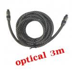 สาย เสียง Optical Fiber สายถักอย่างดี 5.1 7.1 ยาว3m