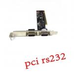 Card pci serial com port 9pin -black