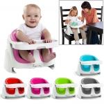 AI412.Bright starts เก้าอี้หัดนั่งทานข้าว Ingenuity Baby Base 2-In-1 Booster Seat - ของแท้จากศุนย์ Bright Starts Thailand - เหมาะสำหรับเด็กวัยมาตราฐาน อายุ 3-18 เดือน -หากถอดชุดที่นั่งเด็กเล็กออก สามารถนั่งได้ถึงประมาณ 3-5 ขวบเลย - ING Baby Base 2-In-1คือ