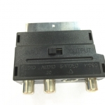 หัวแปลงscart TO rca svdo adapter converter -black