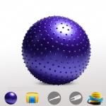 (พร้อมส่ง) บอลโยคะ แบบหนาม ขนาด 85/65CM