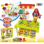 RH603.ชุดแป้งโดเซ็ท color Dough Series ร้านขายของ มีแป้งโดว์ 8 กระปุก มาพร้อมอุปกรณ์หลากหลายที่จะให้น้องๆ สวมบทบาทสมมุติ