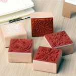 Wood Stamp ทรงสีเหลี่ยมลาย Pattern