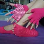 (พร้อมส่ง) YKSM30-3 ถุงมือ ถุงเท้าโยคะ กันลื่น