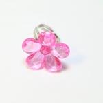 Plastic Flower Fancy Ring แหวนดอกไม้ RI004