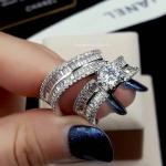 พร้อมส่ง Diamond Ring งานเพชร CZ แท้ ดีไซส์เพชรปาเกตเพชรชูไซว์ 1 กะรัต
