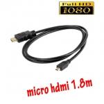 สายแปลงmicro hdmi to hdmi full hd ยาว1.5m มีเสียงด้วย