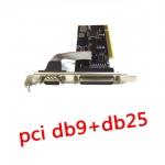 card pci Parallel print port serial com port -green