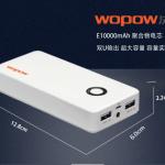 แบตเตอรี่สำรอง Power bank WOPOW 10000MAH ของแท้