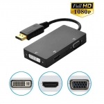 displayport dp to hdmi vga dvi 3in1 converter cable