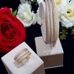 พร้อมส่ง Diamond Bracelet & Ring งาน 3 กษัตริย์ สีเงิน/ทอง/พิ้งโกลด์ สวยมาก