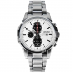 นาฬิกา Seiko White Solar Chronograph Watch SSC083P1 SSC083P SSC083