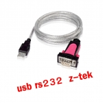 Z-TEK usb 2.0 to RS232 9p com1 cable 1.8m แท้
