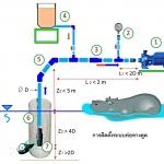 การออกแบบและติดตั้งท่อทางดูด เครื่องสูบน้ำการเกษตร