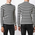 Saint Lautrent Roll-neck Striped Wool Sweater Men/Women