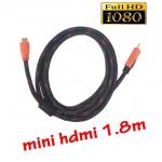 mini hdmi to hdmi ยาว1.5m สายถัก มีเสียงด้วย