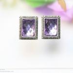 E99030 The Purple Gems ตุ้มหูแฟชั่น