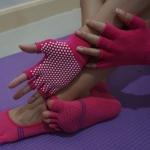 (พร้อมส่ง) YKA30-36 ถุงมือ ถุงเท้าโยคะ กันลื่น
