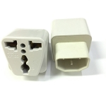 หัวแปลง ปลั๊ก ups IEC to 3 PIN ให้เป็นปกติ -white