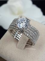 พร้อมส่ง Diamond Ring งานเพชร CZ แท้ แหวนเซตมี 5 วง