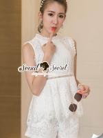 เสื้อผ้าเกาหลี พร้อมส่ง Princess Ivora Lace Set