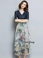 Natural Button Dress